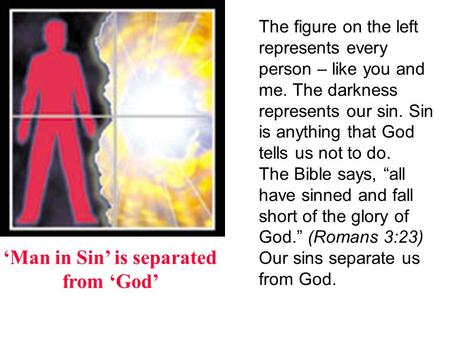 Image result for sin separates incarcerates and negates from GOD