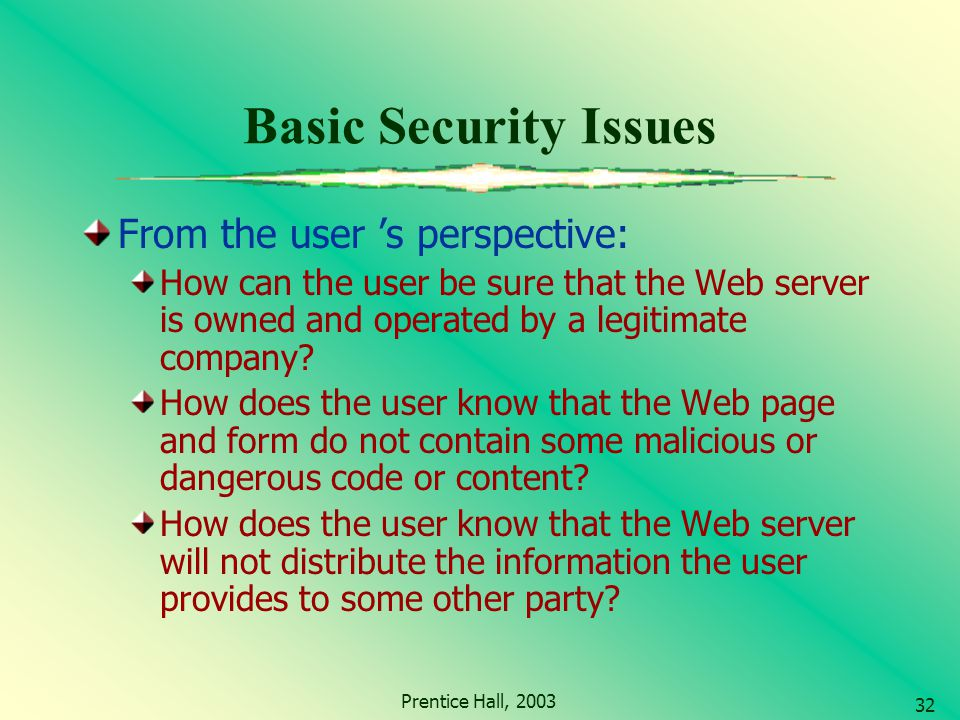 Basic Website Security