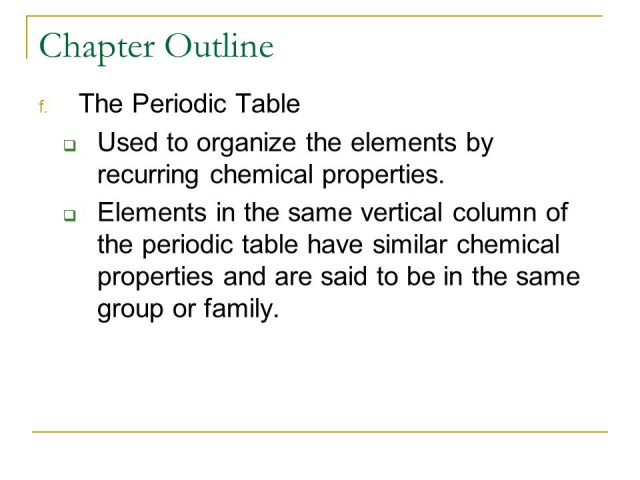 Pearson education elements and the periodic table chapter test chapter 3 atoms and the periodic table ppt online urtaz Choice Image