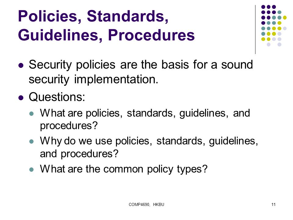 Policy Ppt Security Information