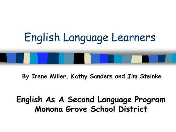 English Language Learners - ppt download