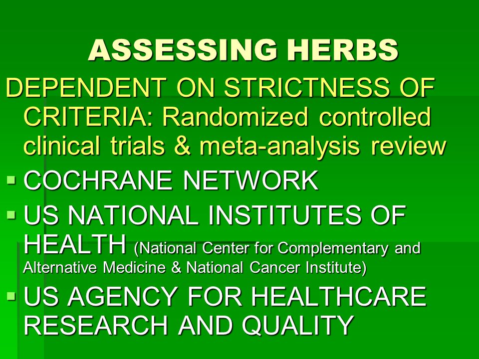 Greens For Green The Case For Health Supplements Ppt