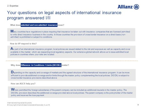 International Insurance Solutions - ppt download