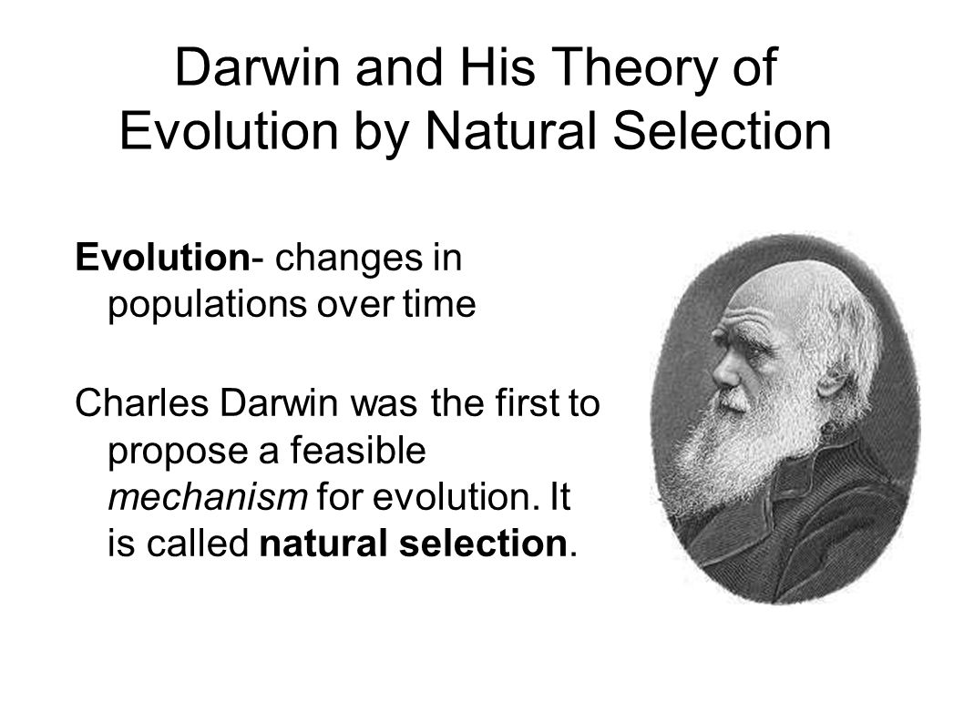 Theory Evolution Natural Theory Evolution