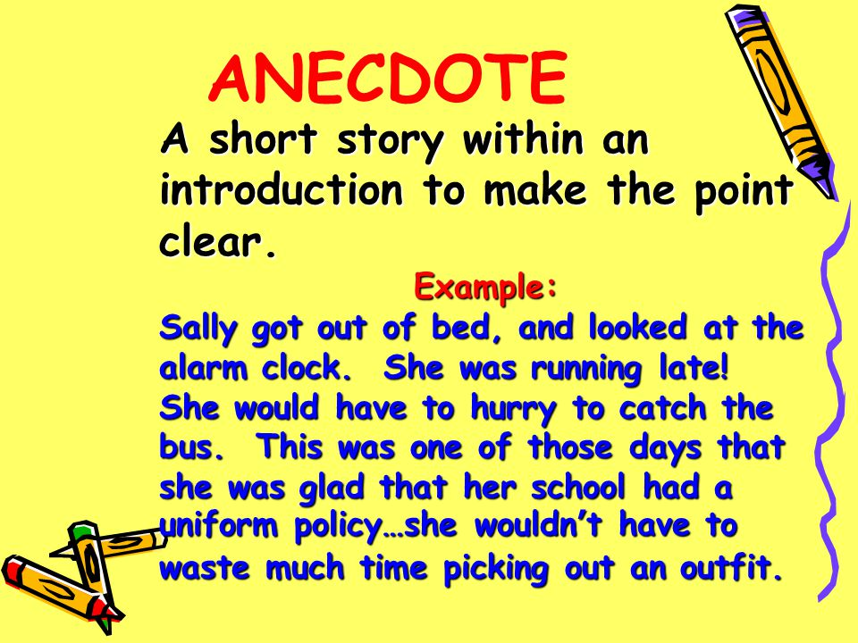 Examples Anecdotes Having Do Tv