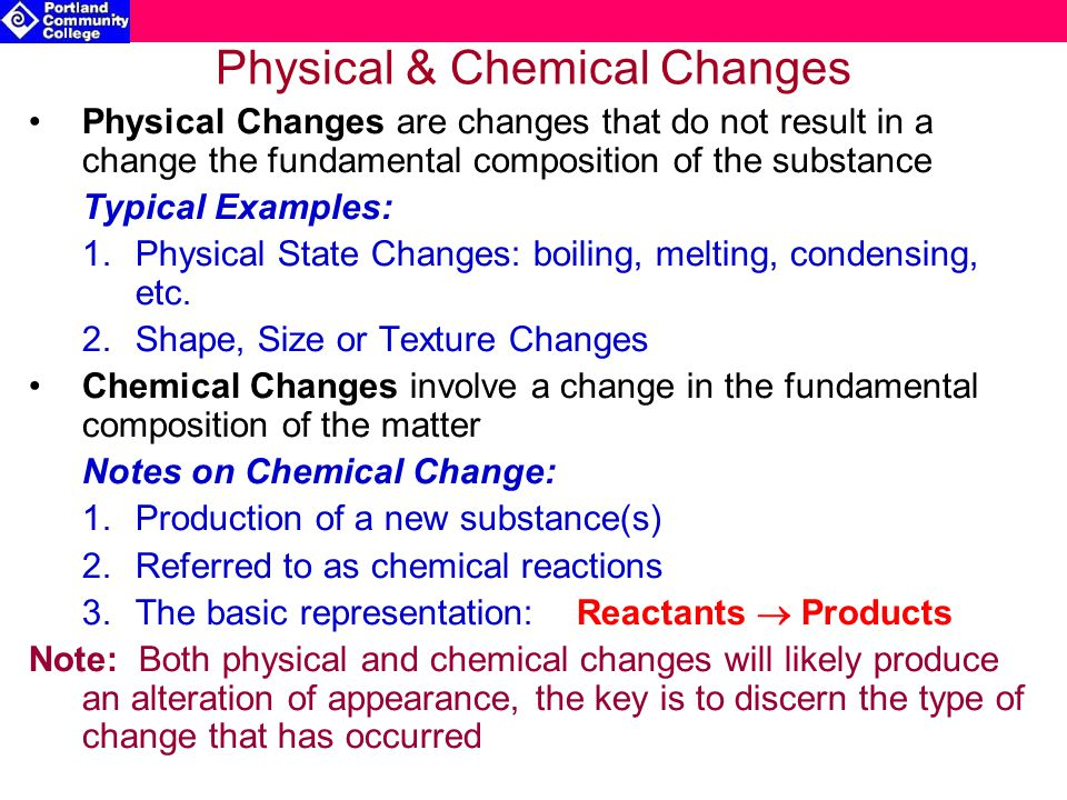 How Physical And Are What Chemical Used They Substance Are Changes And