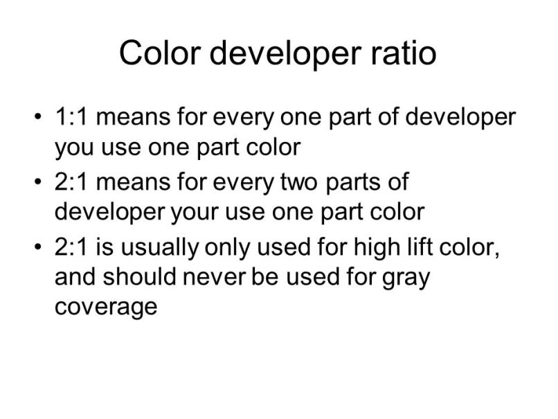 Hair Color And Developer Ratio Zieview