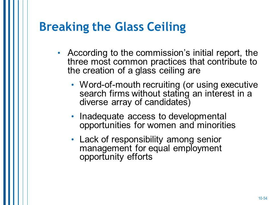 What Does The Glass Ceiling Refer To In A Business Context