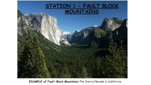 STATION 1 FAULT BLOCK MOUNTAINS  ppt video online download