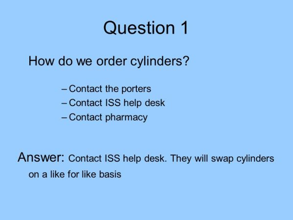 Medical Gases. Piped and Cylinder Training - ppt download