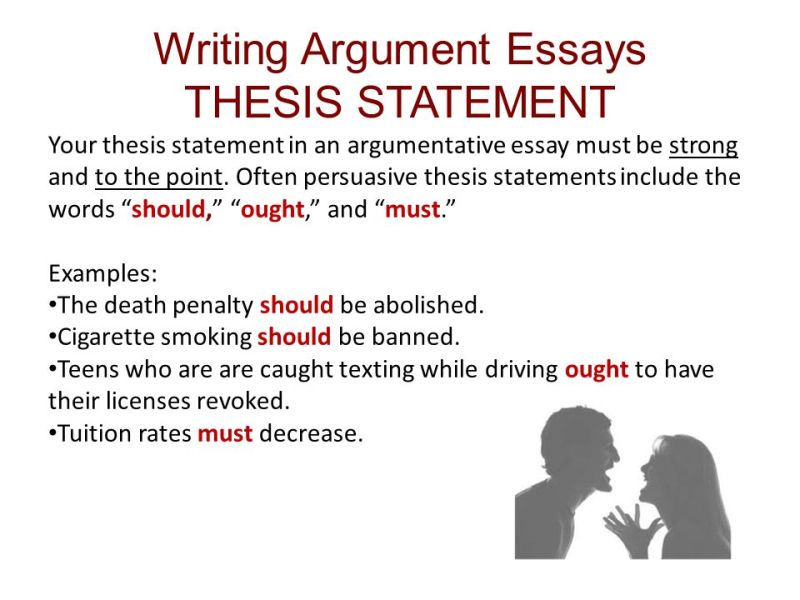 How To Write A Good Argumentative Essay Thesis  Howstoco Good Thesis Statements For Essays The Best Way To Write A