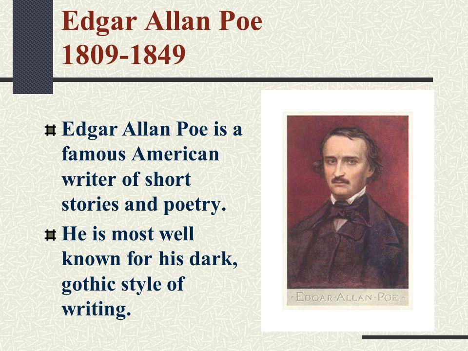Edgar Allan Poe Story Writing