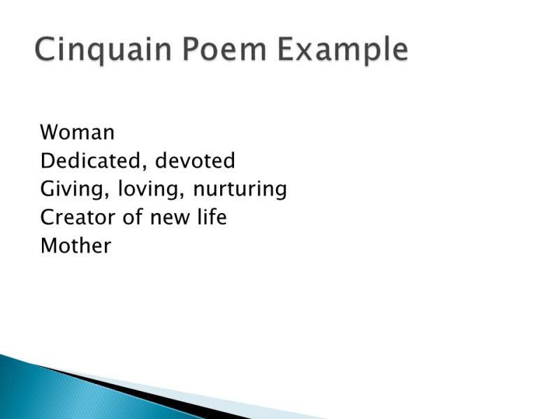 example of cinquain poem about mother creativepoem co