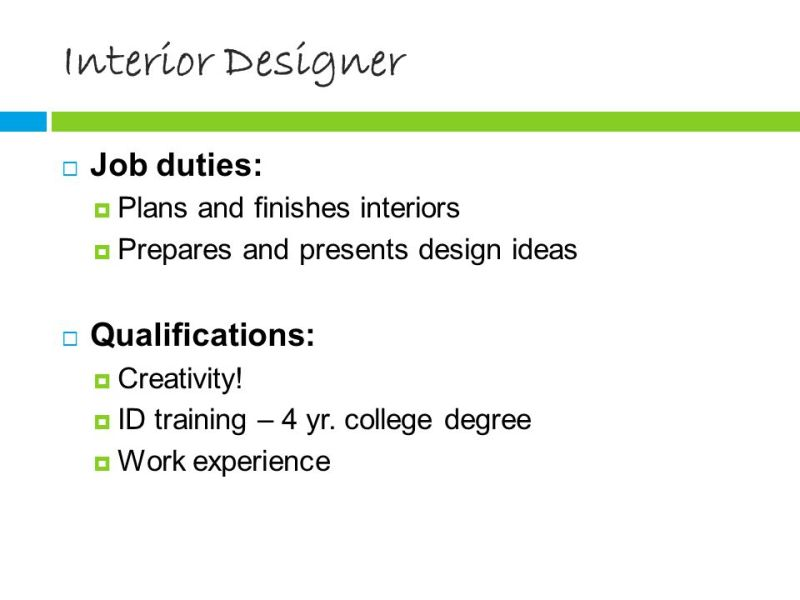 8 Interior Designer Career Preparation Objective And Ppt Online