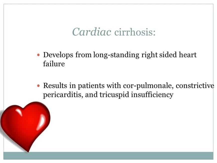 Cardiac Cirrhosis
