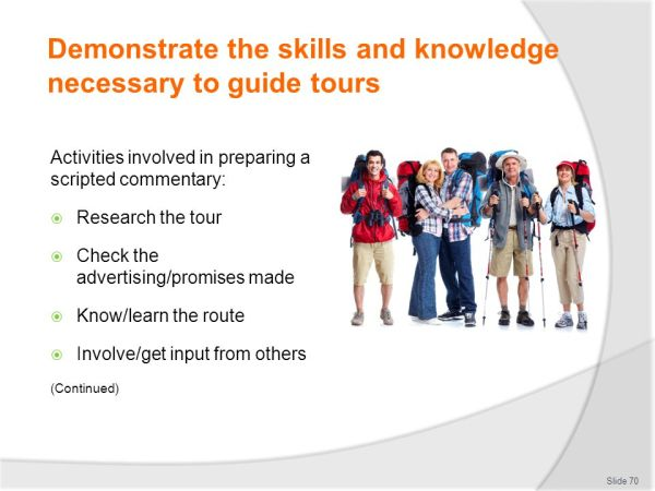 WORK AS A TOUR GUIDE D2.TTG.CL3.01 Trainer welcomes ...