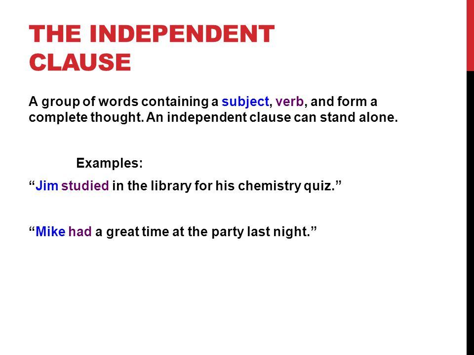 Depent Sentence Examples