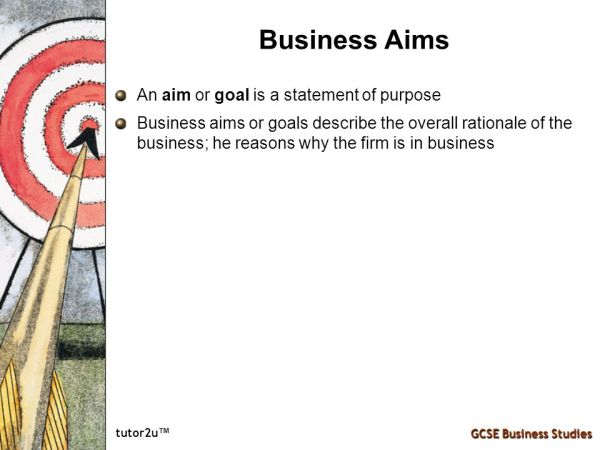 Business Aims & Objectives - ppt video online download