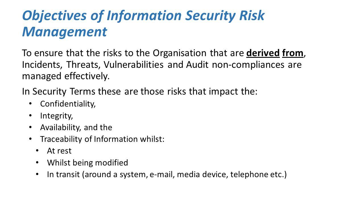 Information Security Risk Management
