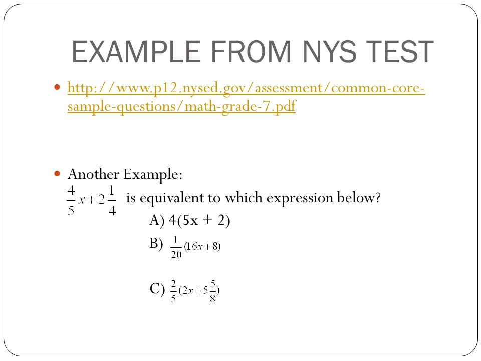 Common Core Sample Questions