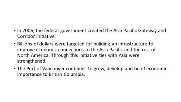 The Development of British Columbia - ppt download
