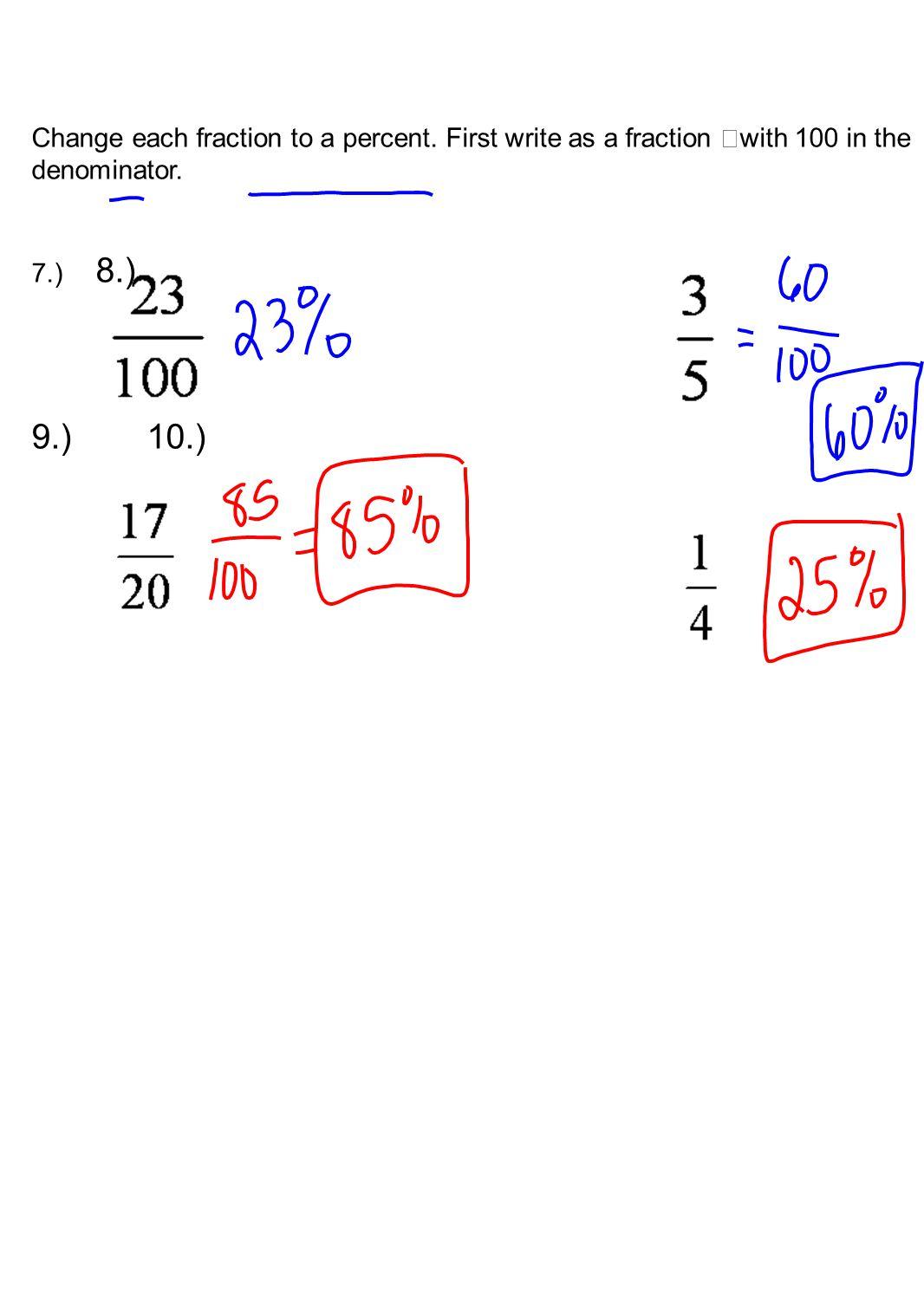 Worksheet Fraction To Percent Grass Fedjp Worksheet Study Site