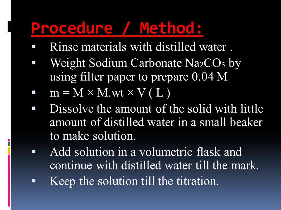 1 M Sodium Carbonate Solution
