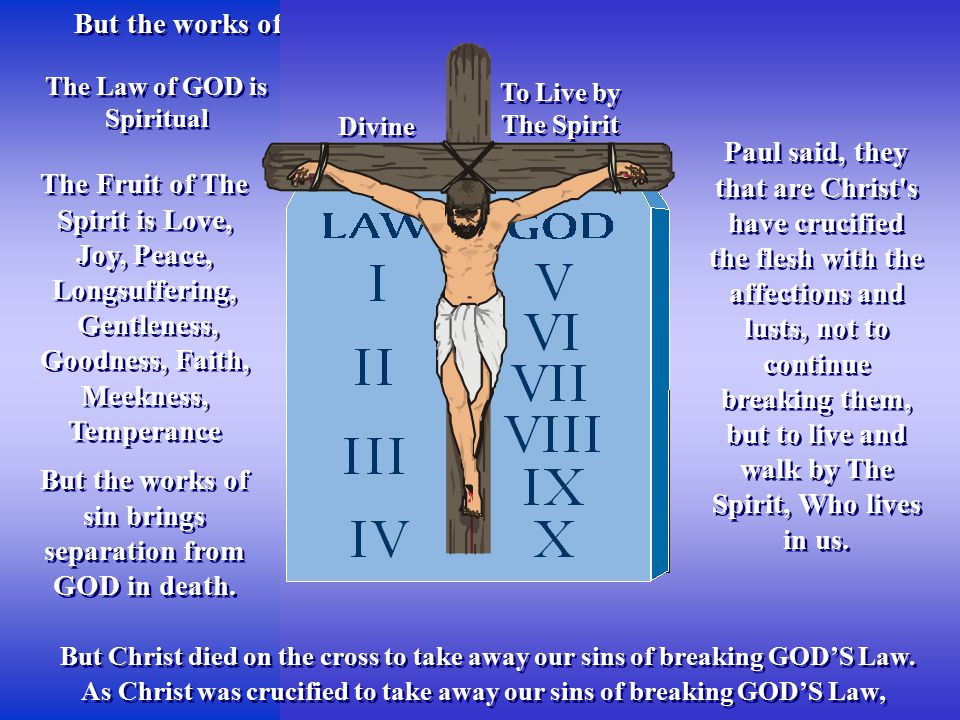 Image result for the cross and law of God