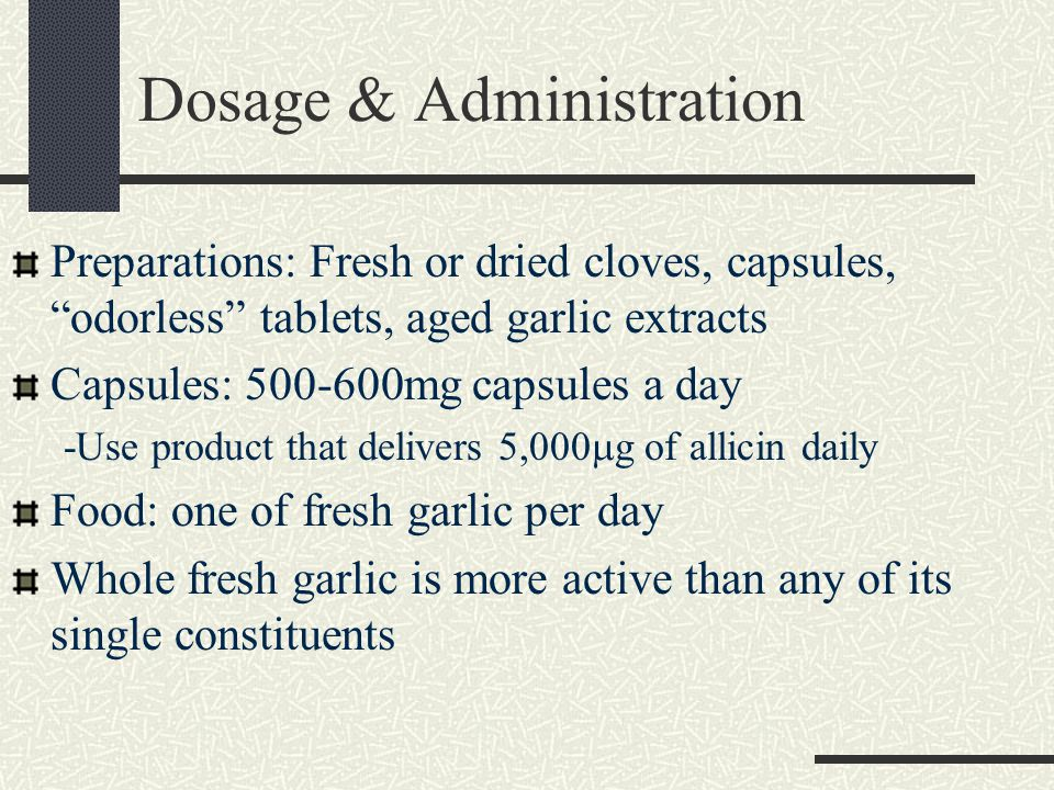 Side Effects Odorless Garlic