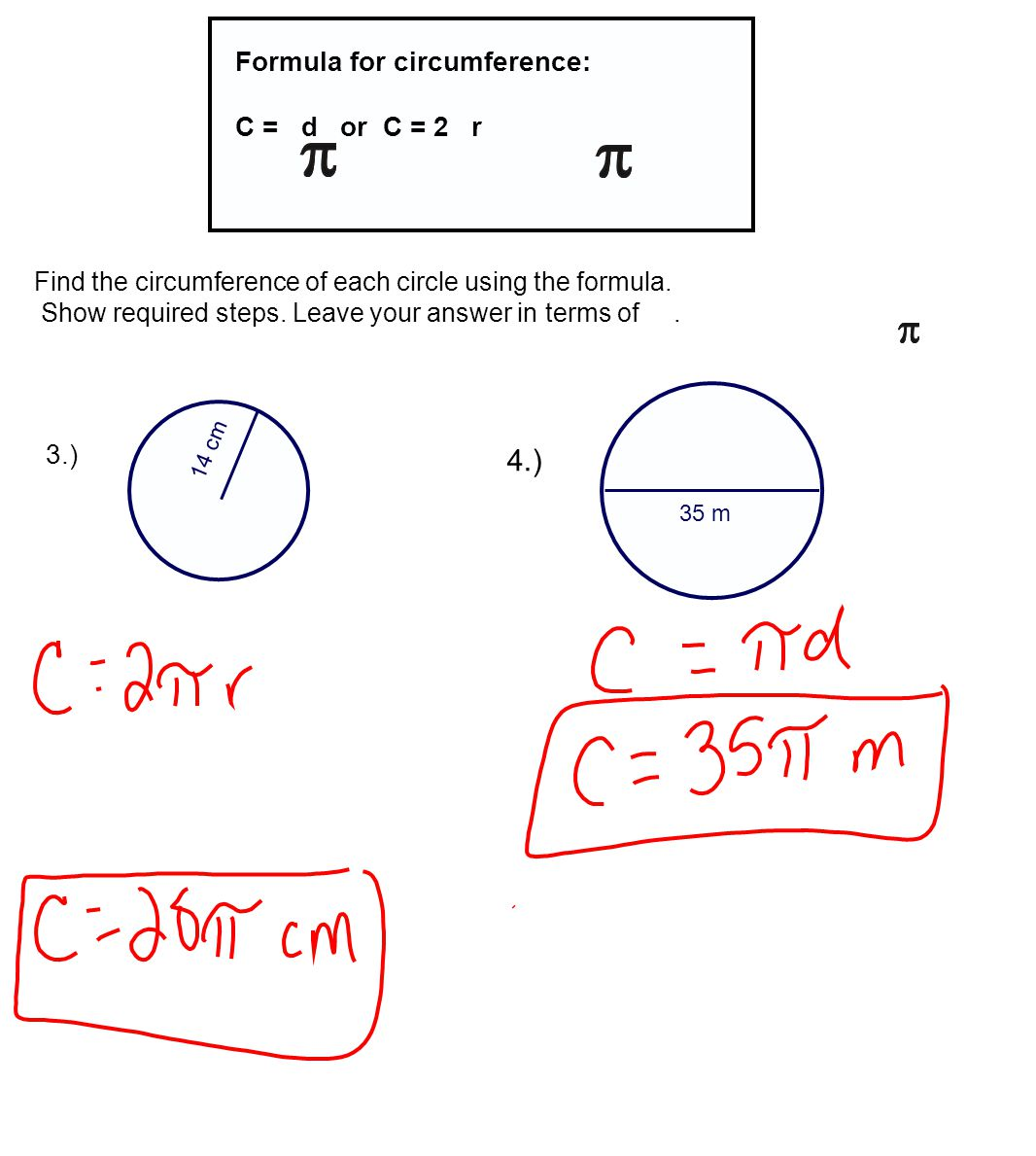 Find The Circumference Of Circle To The Nearest Tenth