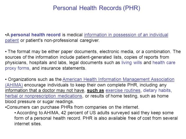 Electronic Health Records (EHR) - ppt video online download