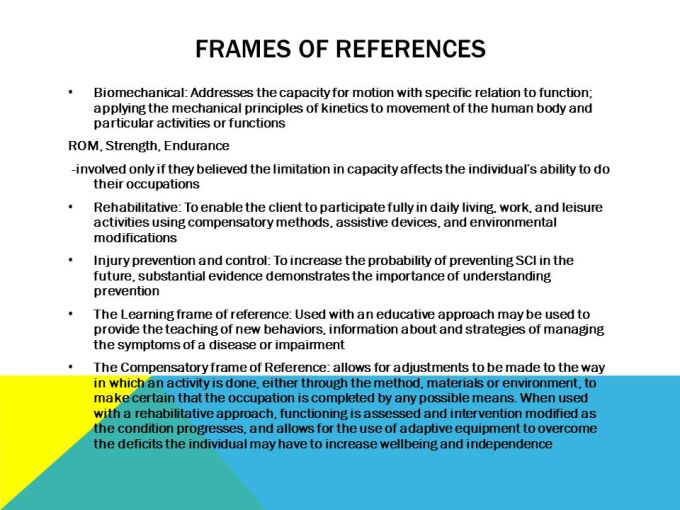 Biomechanical Frame Of Reference In Pediatric Occupational Therapy ...