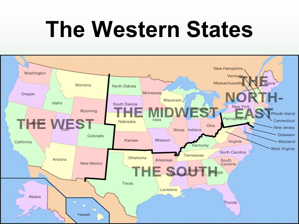 Western United States Map With Capitals