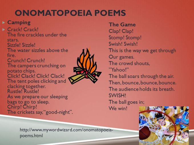 Onomatopoeia Poems Poemview