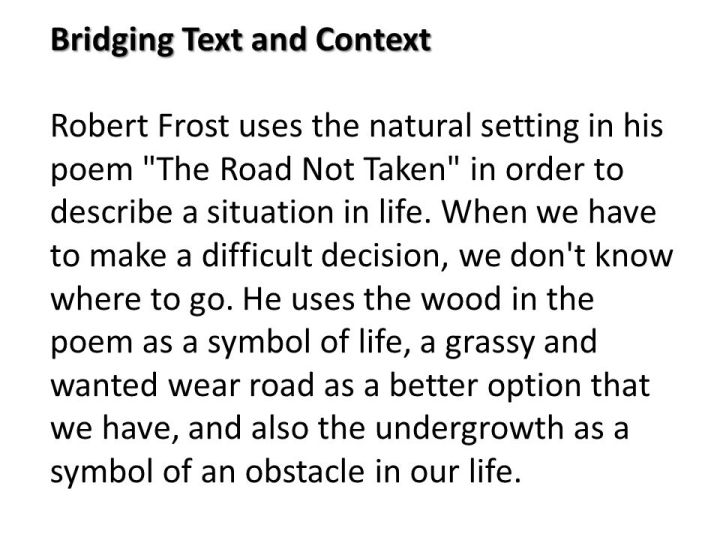 the road not taken poem explanation co the road not taken robert frost analysis ppt