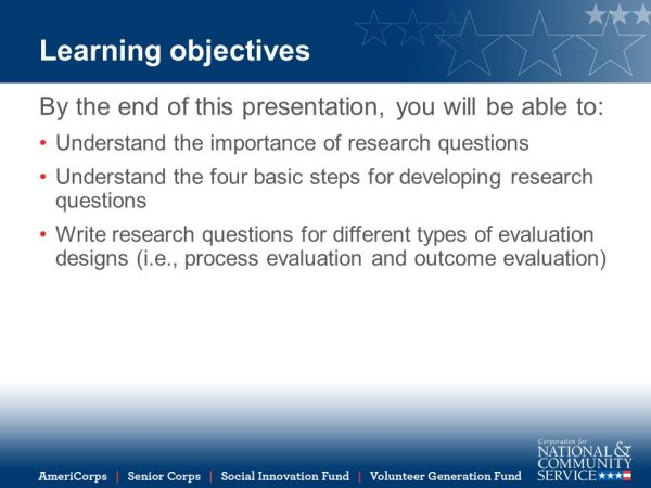 How to Develop the Right Research Questions for Program ...