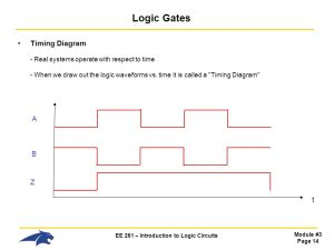 EE 261 – Introduction to Logic Circuits  ppt video online