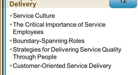 Critical Customer Service