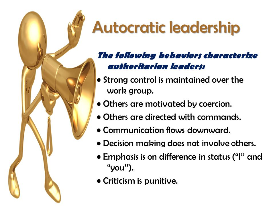 what is autocratic decision making