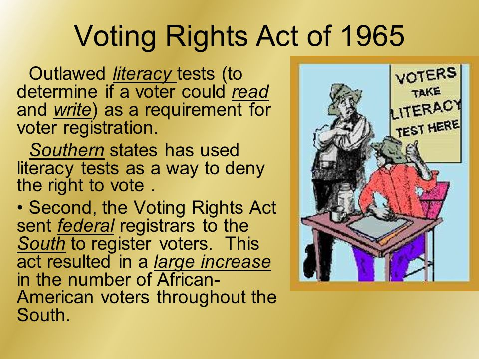 Literacy Test Voting 1965