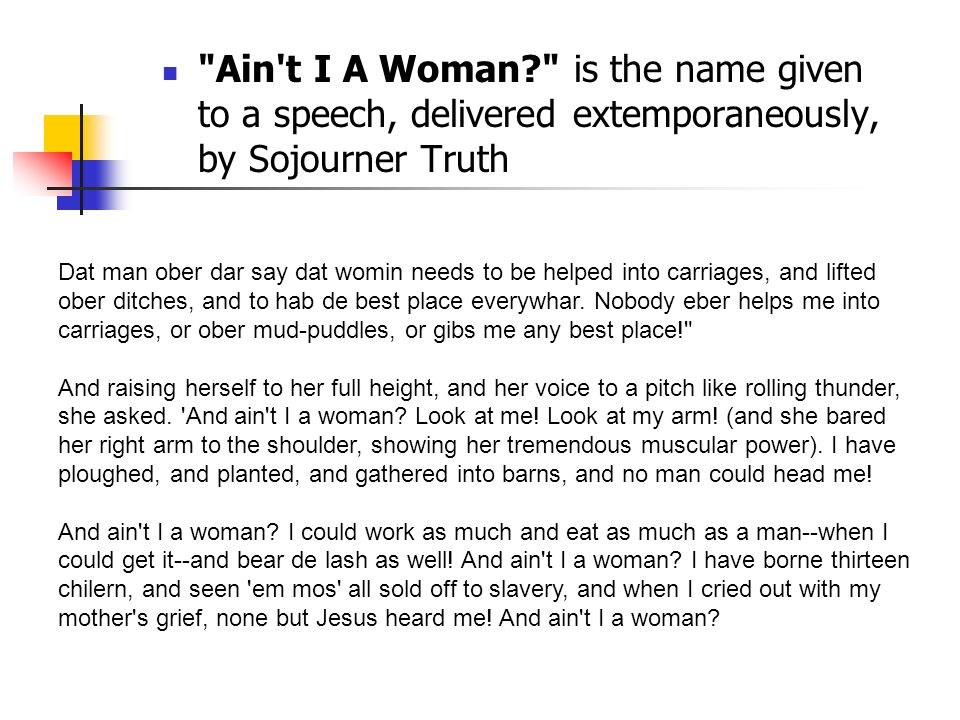 Aint I Woman Summary