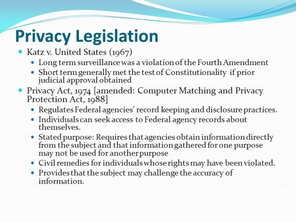 Class 3 – April 6, 2012 Part 1: IT Policies – Privacy ...