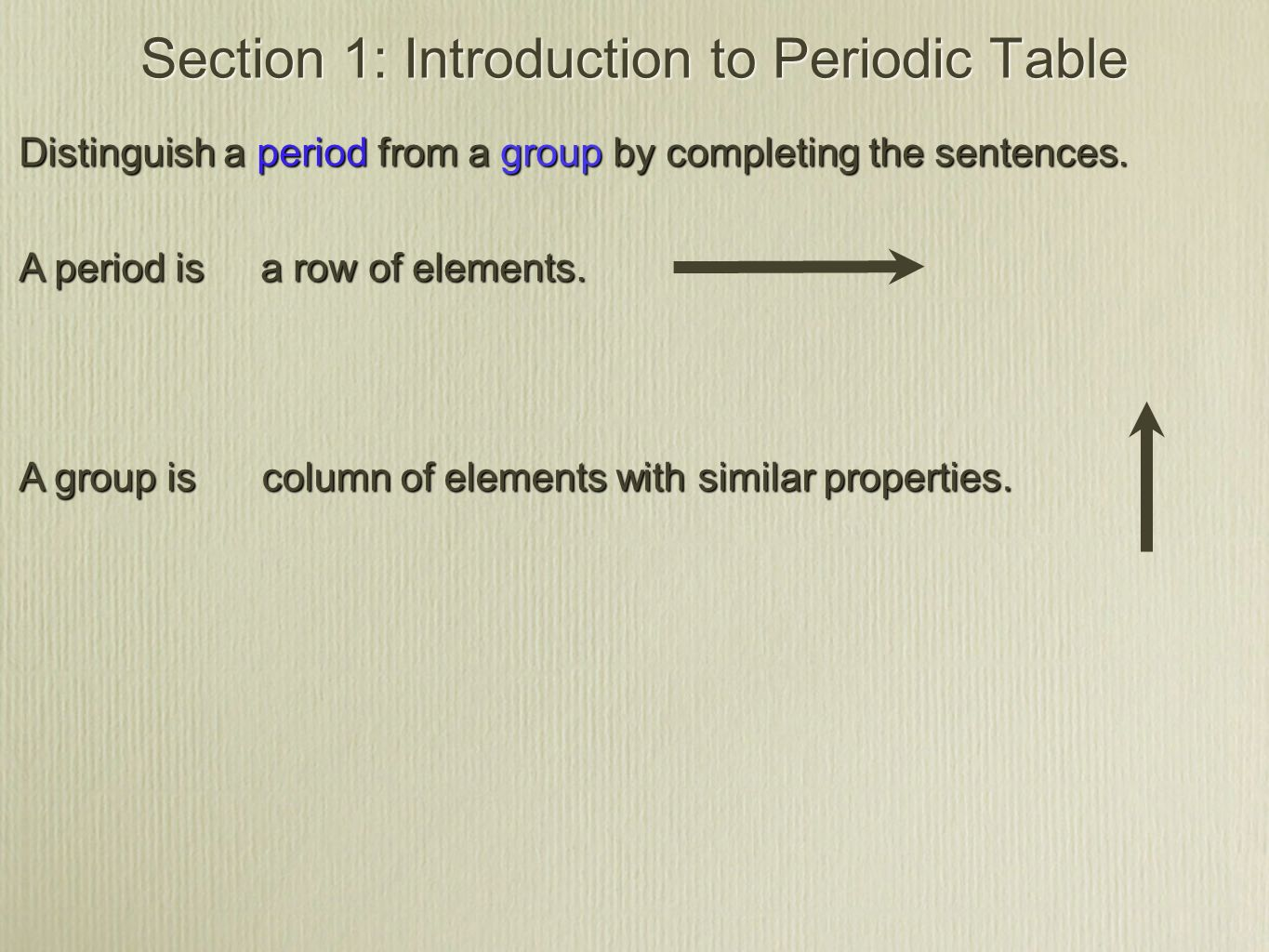 Section 1 Introduction To The Periodic Table