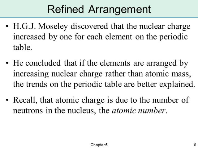 Why are elements in the periodic table arranged order of atomic arrangement of the elements ppt online urtaz Images