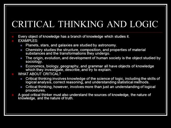 LOGIC AND CRITICAL THINKING - ppt video online download