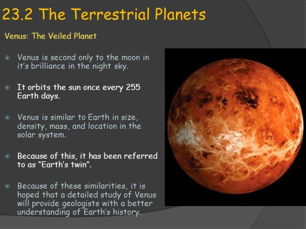 Earth Science 232 The Terrestrial Planets ppt video