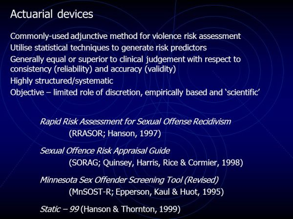 Risk Assessment of Sexual Offenders - ppt video online ...