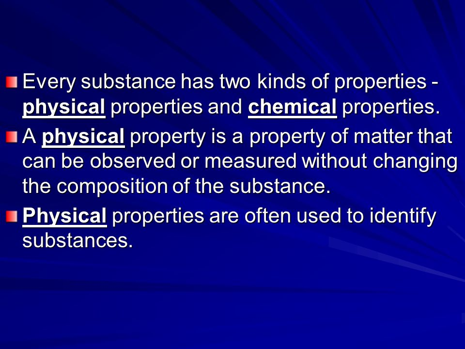 Are What Changes Used And Chemical And Physical Are They How Substance