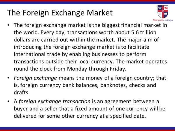 FOREIGN EXCHANGE MARKET - ppt download