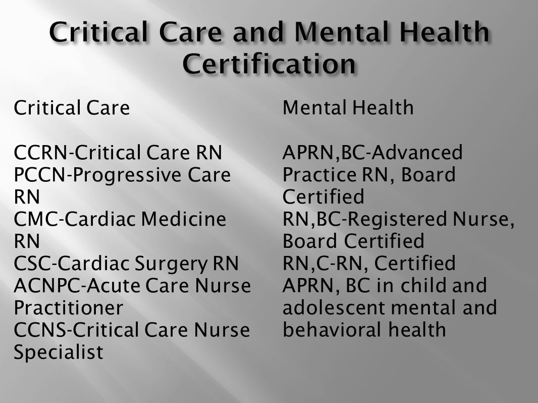 Ccrn Certification Requirements